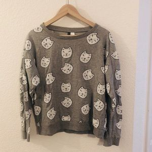 H&M Cat Graphic Sweater